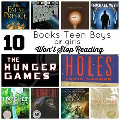 10 books teen boys (or girls) won't stop reading!