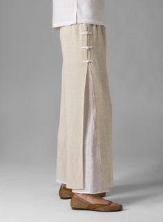 Linen Double Layers Pants - Plus Size Fashion Pants, Boho Fashion, Miss Me Outfits, Plus Clothing, Figure Skating Dresses, Pants Pattern, Linen Pants, Pants Outfit, Dress Patterns