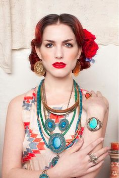 A beautiful Frida Kahlo-inspired fashion moment from BellJar