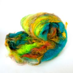 Fiber Batt Art Batt Fiber Art Batt for Spinning or by HelloPurl, $30.00