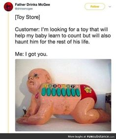Dude what the fuck why would you do that to your goddamn child<<<<why not? I find it mildly amusing<<< wtf is wrong with you Stupid Funny Memes, Funny Relatable Memes, Haha Funny, Funny Cute, Hilarious, Funny Stuff, Random Stuff, Morbider Humor, Funny Humor