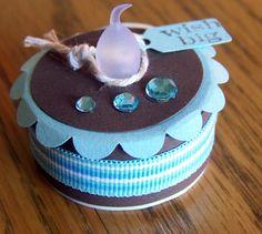 cake birthday or other occasion LED tea light by serenitylane Battery Operated Tea Lights, Led Tea Lights, Tea Light Candles, Cute Crafts, Crafts For Kids, Tea Light Snowman, Light Cakes, Paper Cake, Birthday Box