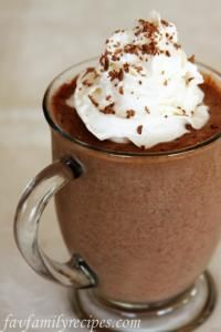 Frozen Hot Chocolate on MyRecipeMagic.com #chocolate #hot #frozen