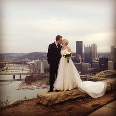 Dream wedding picture! In Pittsburgh up on Mt.Washigton... The greatest city in the world!!!!