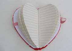 Heart Shaped Book Tutorial -- would be cute v-day gift for the girls.