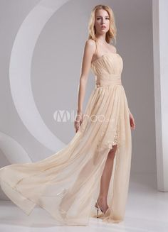 Champagne Chiffon Pleated Strapless Womens Evening Dress. Champagne Chiffon Pleated Strapless Womens Evening Dress. See More Strapless at http://www.ourgreatshop.com/Strapless-C967.aspx