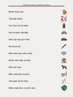 Tak TROCHU ... jiný svět: Čtení jednoduchých vět s porozuměním