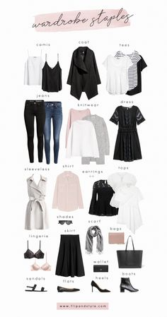 Capsule Wardrobe Staples For 2018 #wardrobebasicscasual