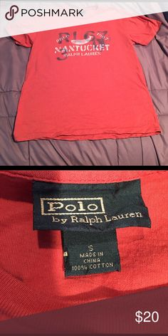 polo tee by Ralph Lauren. Red. Small. Super soft. No flaws. Faded red color Ralph Lauren Shirts Tees - Short Sleeve