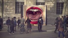 From France: A Huge Tongue And Giant, Showering Rugby Player Give Outdoor Ads New Dimension | Co.Create | creativity + culture + commerce