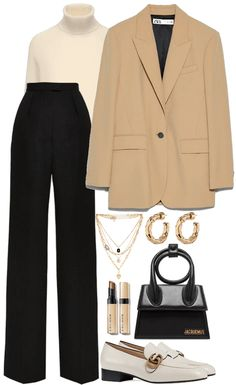 Classy Work Outfits, Business Casual Outfits, Basic Outfits, Cool Outfits, Fashion Forms, Look Fashion, Sophisticated Outfits, Womens Dress Suits, Fashion Design Sketches