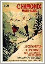Chamonix Ski Poster - Two Jumpers (2 Sizes)