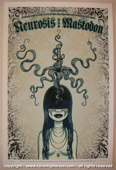 Neurosis & Mastodon concert poster by Tara McPherson.