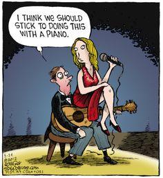 The Guitar Comic Strips Music Puns, Music Humor, Funny Cartoons, Funny Jokes, Cartoon Humor, Musician Jokes, Fowl Language Comics, Guitar Guy, Guitar Quotes