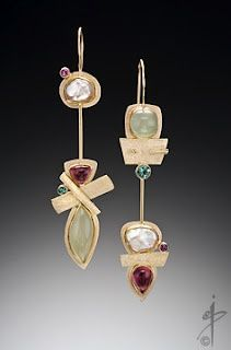 Secret Life of Jewelry - A Universe of Handcrafted Art to Wear: Isabelle Posillico Jewelry Modern Jewelry, Jewelry Art, Silver Jewelry, Fine Jewelry, Jewelry Design, Fashion Jewelry, Unique Jewelry, Hippie Jewelry, Jewellery