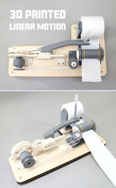 With this handy gadget, you can turn rotary motion into linear motion with ease! Using some skateboard bearings, machine screws, and 3D printed parts, the machine comes together in no time and can be used for all kinds of machines or robots.