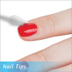 Tips for a beautiful manicure at home with Q-tips cotton swabs and Q-tips Precision Tips cotton swabs.