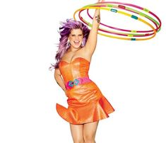 """Kelly Osborne : """"I have a Hoopnotica hula hoop,"""" she told one magazine. """"I use it every day. It's made my back and arms stronger, and my waist has gone down 2 inches! On Saturday nights my friends and I put on ridiculous outfits and hula-hoop and dance when everyone else is at 'da club.' We call it #HipHopAnonymous.  We all live in the same building and random people show up. The next morning you're like, 'Oh, my God, I'm so sore,' but you had the best night ever."""""""