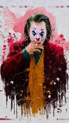 """""""Joker"""" is an original, standalone story. Arthur Fleck (Joaquin Phoenix), a man disregarded by society, is not only a gritty character study, but also a broader cautionary tale. Batman Wallpaper, Android Wallpaper Girly, Batman Artwork, Apple Wallpaper, Der Joker, Joker Dc, Joker And Harley Quinn, Gotham Batman, Batman Robin"""