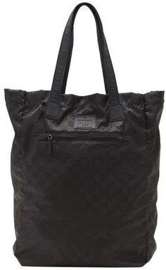 Gucci Black Gg Nylon Duffel Bag From Viaggio  8af9aa6eaef57