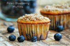 Paleo/Gluten Free Blueberry Muffins