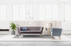 40 Gorgeously Minimalist Living Rooms That Find Substance in Simplicity Nest Design, Futuristisches Design, Design Ideas, Pink Design, Sofa Design, Furniture Design, Minimalist Furniture, Minimalist Living, Interior Design Living Room