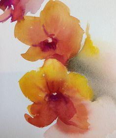 Hey, I found this really awesome Etsy listing at https://www.etsy.com/listing/129797363/yellow-orchids-floral-fine-art-original