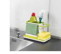 Sink caddy with a reservoir beneath to collect drained water. The entire unit can be dismantled for cleaning.  $15