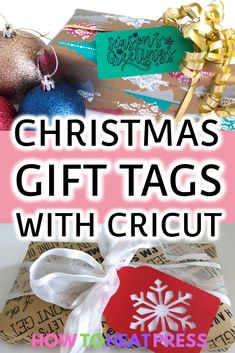 Easy Christmas Gift Tags With The Cricut Explore Air 2 #cricut #christmas #cricutprojects #craftprojects #craftideas #giftideas #cricutmade #cricutmaker #cricutexploreair2 #cricuttutorial… More