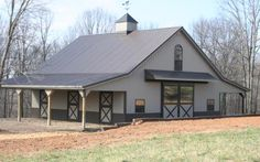 My one day barn, plus the roof I want on our house too...I always wanted a metal roof. :)