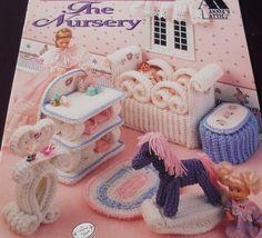 The Nursery Crochet fashion doll Barbie furniture Pattern book. $14.95, via Etsy.
