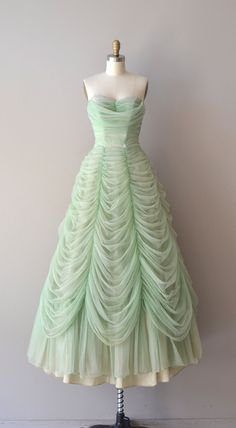 Austrian Waltz dress 1950s dress vintage 50s by DearGolden ||| Don't really like the color, but the style is gorgeous.