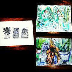 #art #plants #doodle #raw #design #illustration #colorpencil #daisies #daisy #ink #marcjacobsdaisy