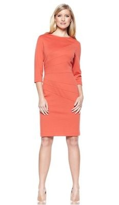 3/4 Sleeve Ponte Dress