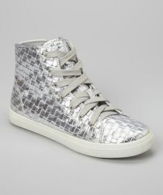 Love this Silver Jillanna Hi-Top Sneaker by N.Y.L.A. Shoes on #zulily! #zulilyfinds