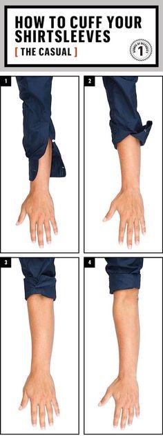 Aprende como doblar la manga de tu camisa