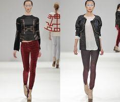 (3) Ji Cheng - London Fashion Week - Denim  Jeanswear 2013-2014 Fall Winter Womens Runways II