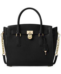 cf3396582d Michael Kors Handbag Satchel Large Womens Signature Leather Saffiano  Hamilton Handbag Accessories