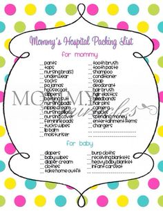 Things you might need for hospital