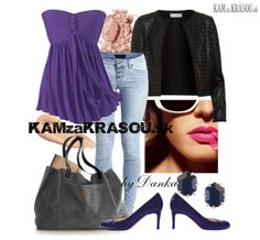 #kamzakrasou #sexi #love #jeans #clothes #dress #shoes #fashion #style #outfit #heels #bags #blouses #dress #dresses #dressup #trendy #tip #new #kiss #kisses  V ľahkom fialovom tope