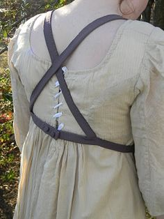 Regency Apron. Apparently it was common for them to criss-cross in the back like this! Good to know.
