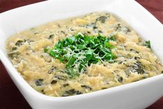Spinach & Lemon Soup With Orzo Recipe | gimmesomeoven.com