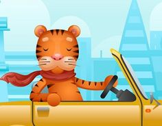 """Check out new work on my @Behance portfolio: """"Cute tiger riding on car flat design cartoon character"""" http://be.net/gallery/53321549/Cute-tiger-riding-on-car-flat-design-cartoon-character"""