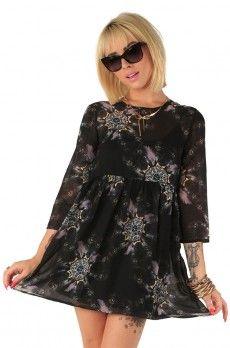 Nightmare Catcher Dress ❤ Black $55