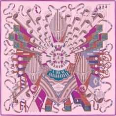 Hermes Point D'Orgue Silk Chiffon Shawl  S/S 2015 NOW $970