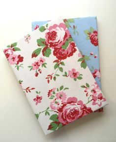 Cath Kidston Fabric Covered A5 Hard Cover Notebook - rosali fabric, lined…
