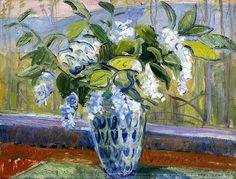 Lars Jorde/ 'Spring Flowers in Vase', 1919