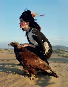 """An Awful Big Adventure""Kirsi Pyrhonen by Tim WalkerVogue UK, December 2011"