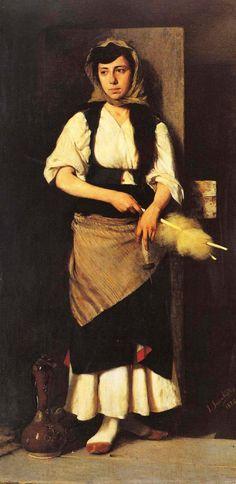 Georgios Iakovidis. A Girl. 1876
