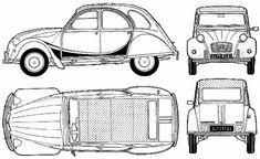 Citroen 2CV Charleston blueprint • Citroen 2CV club